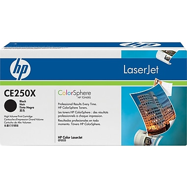 HP 504X (CE250X) Black High Yield Original LaserJet Toner Cartridge