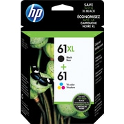 HP 61XL High Yield Black & 61 Tri-Color Original Ink Cartridges, 2/Pack (CZ138FN)
