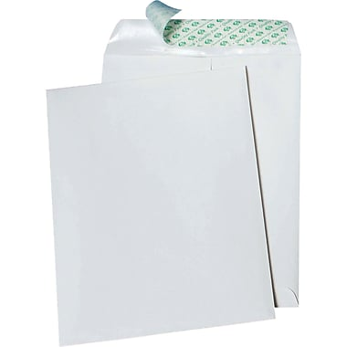 Quality Park™ Tech-No-Tear Envelopes, 10 x 13, Paper Side Out