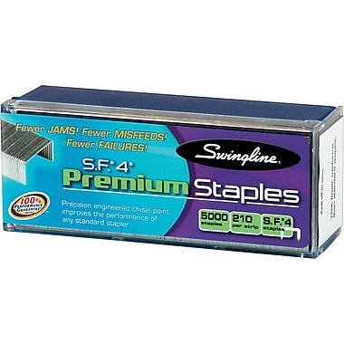 Swingline® S.F.® 4 Premium Staples, 1/4in.