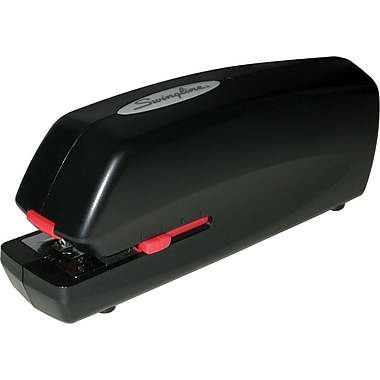 Swingline® Extra-Quiet Portable Electric Full Strip Stapler, 20 Sheet Capacity, Black