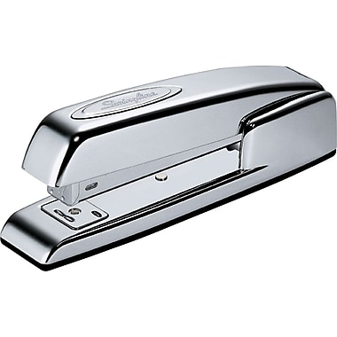 Swingline® 747 Contour Business Professional Stapler, Chrome, 20-Sheet Capacity