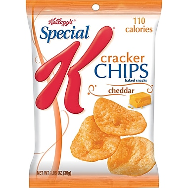 Kellogg's® Special K® Cracker Chips, Cheddar, 6 Bags/Box