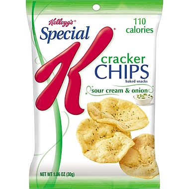 Kellogg's Special K Cracker Chips, Sour Cream & Onion, 6 Bags/Box