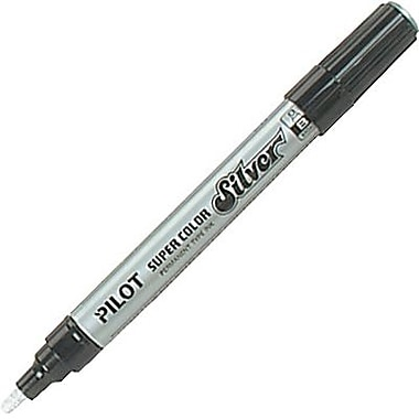 Pilot Metallic Marker, Broad Tip, Silver