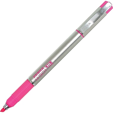 Zebra® Stainless Steel Liquid Ink Highlighters, Pink, 2/Pack