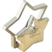 "Baudville® Duo Silver Star Business Card Holder, ""You Make the Difference"""