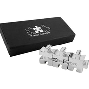 Baudville inch It Takes Teamwork inch Connectable Puzzle Piece Desktop Award by