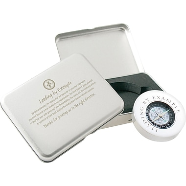 Baudville® Silver Compass Gift Set with Brush Aluminum Case