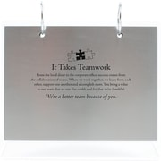 Baudville® Silver Photo Flip Frame, It Takes Teamwork