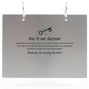 "Baudville® Silver Photo Flip Frame, ""Key to Success"""