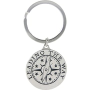 "Baudville® Nickel Finish key chain with Compass Graphic, ""Leading by Example"""