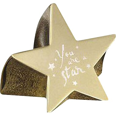 Baudville Star Paperweight with Engraved Message, in.You Are a Starin., Gold