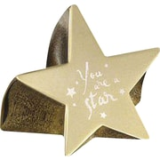 Baudville® Star Paperweight with Engraved Message, You Are a Star, Gold