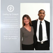 Baudville® Silver Photo Frame, Leading by Example