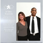 "Baudville® Silver Photo Frame, ""It Takes Teamwork"""