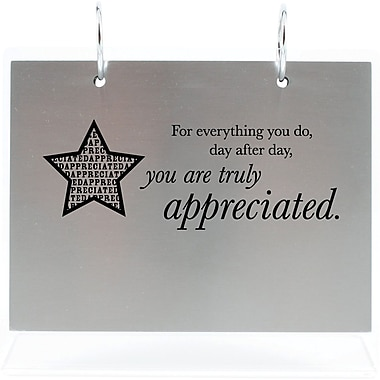 Baudville Silver Photo Flip Frame, in.You are Truly Appreciatedin.