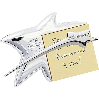 Baudville Silver Star Gift Set with Notepad Holder and Letter Opener, in.You Make the Differencein.