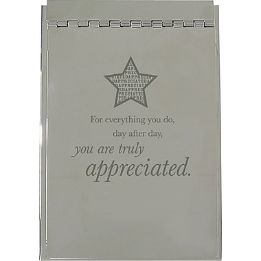 Baudville Silver Flip Memo Pad Holder, in.You Are Truly Appreciatedin.