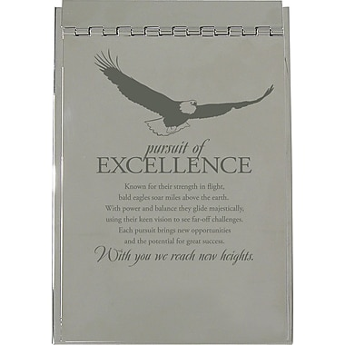 Baudville Silver Flip Memo Pad Holder, in.Pursuit of Excellencein.