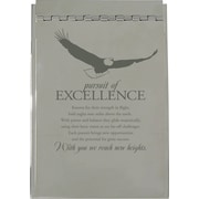 Baudville® Silver Flip Memo Pad Holder, Pursuit of Excellence
