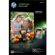 HP Everyday Photo Paper, 4 x 6, Glossy, 50/Pack