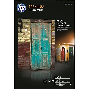 HP ® Premium Photo Paper, 13in.x19in., Satin, 25/Pack