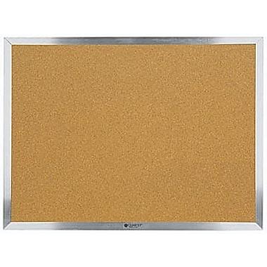 Quartet® Economy Cork Bulletin Board, Aluminum Frame, 48