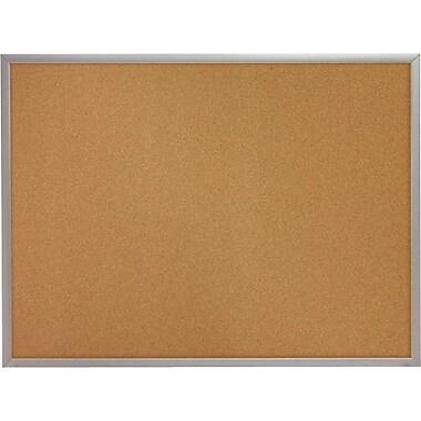 Quartet® – Tableau en liège avec cadre en aluminium, 48 po x 96 po