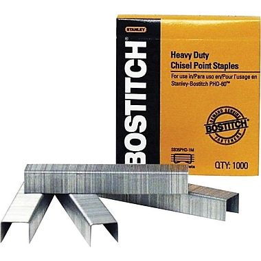 Stanley Bostitch Heavy-Duty Staples, 3/8