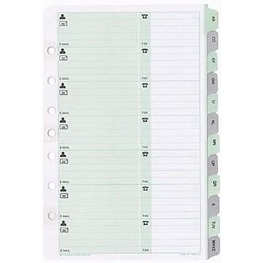 Day-Timer® – Recharges pour organisateur de coordonnées (téléphones/adresses), 5-1/2 po x 8-1/2 po, bilingue