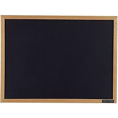 Quartet® Black Chalkboard, Oak Frame, 72