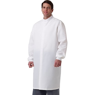 ASEP® Unisex Full Length Barrier Lab Coats, Navy, Medium