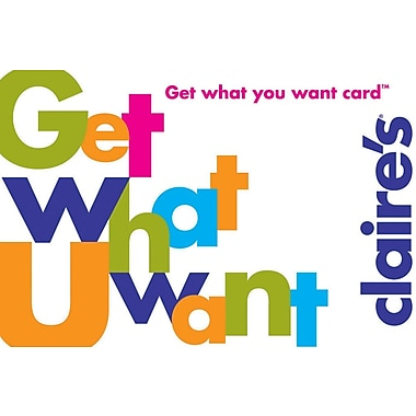 Claires Gift Card, $50