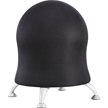 Safco Zenergy Plastic Ball Office Chair Black Armless