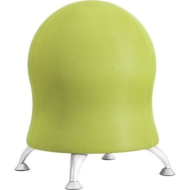 Safco Grass Green Four-Leg Fabric Ball Chair, Armless