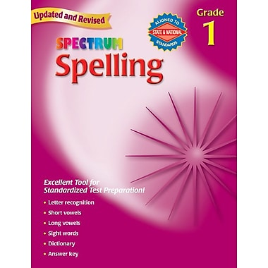 Spectrum Spelling Workbook, Grade 1