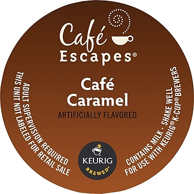 Keurig K-Cup Cafe Escapes Cafe Caramel, 16/Pack