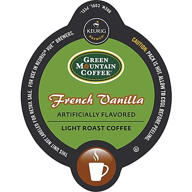 Keurig Vue Pack Green Mountain French Vanilla Coffee, Regular, 16/Pack
