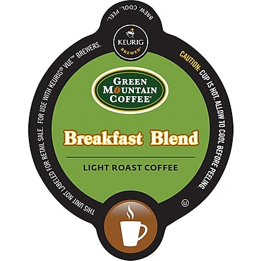 Keurig Vue Pack Green Mountain Breakfast Blend Coffee, Regular, 16/Pack