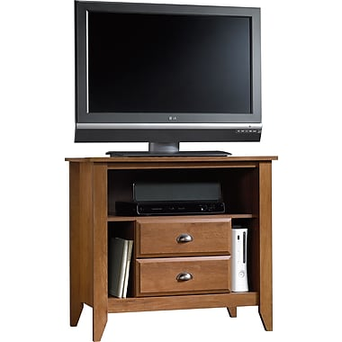 Sauder® Shoal Creek High Boy TV Stand, Oiled Oak