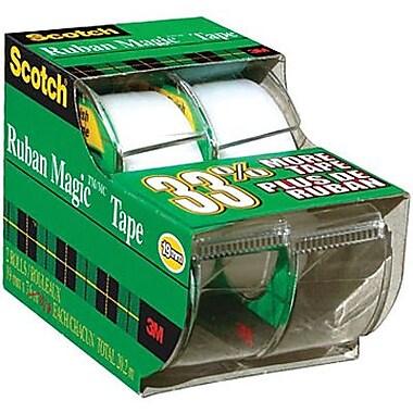 Scotch™ - Ruban Magic avec dévidoir, 19 mm x 7,6 m, paq./2