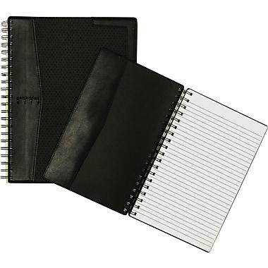 Cambridge® - Cahier de notes en vinyle City, 9 3/4 po x 6 1/4 po, noir, 100 pages