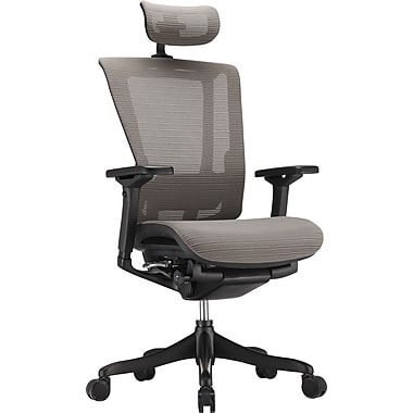 nefil Elite Smart Motion Mesh Managers Chair with Headrest, 3D Gray