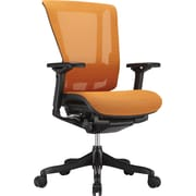 nefil Elite Smart Motion 3D Mesh Manager's Chair, Adjustable Arms, Orange