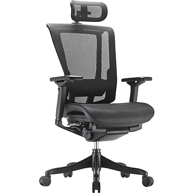 Raynor nefil Elite Smart Motion Mesh Managers Chair with Headrest, Tech Black