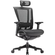 nefil Elite Smart Motion Mesh Managers Chair with Headrest, Tech Black