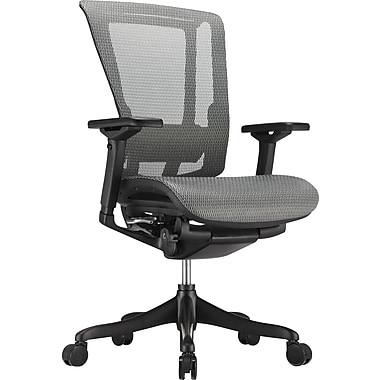 nefil Elite Smart Motion Mesh Manager's Chair, Adjustable Arms, Gray