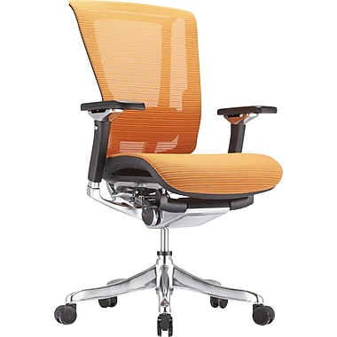 nefil Pro Smart Motion Mesh Manager's Chair, Adjustable Arms, Orange