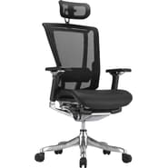 Raynor nefil Pro Smart Motion Mesh Managers Chair with Headrest, Tech Black